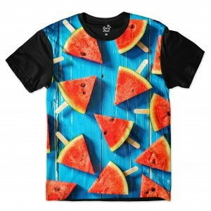Camiseta Long Beach Melancias Full Print Azul