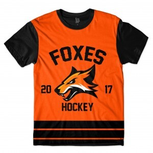 Camiseta BSC Hockey Foxes Sublimada Preto / Laranja