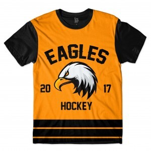 Camiseta BSC Hockey Eagles Sublimada Preto / Amarelo