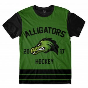 Camiseta BSC Hockey Alligators Sublimada Preto / Verde