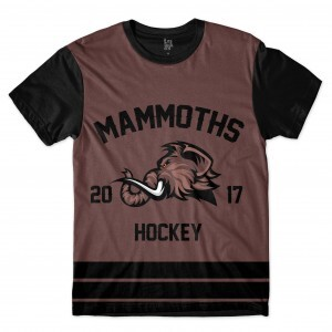 Camiseta BSC Hockey Mammoths Sublimada Preto / Marrom