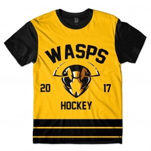 Camiseta Los Fuckers Hockey Wasps Full Print Preto / Amarelo