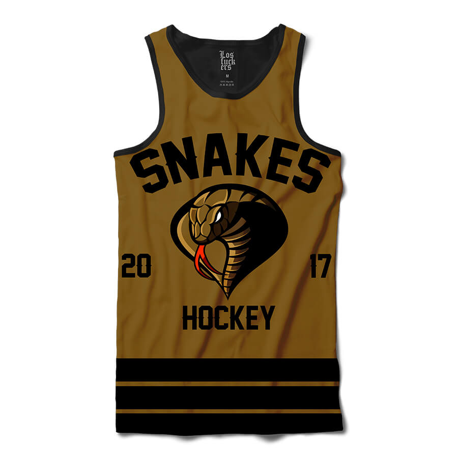 Camiseta Regata BSC Hockey Snakes Sublimada Preto / Marrom