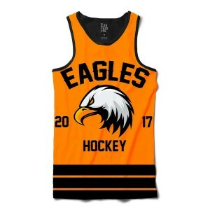 Camiseta Regata BSC Hockey Eagles Sublimada Preto / Amarelo