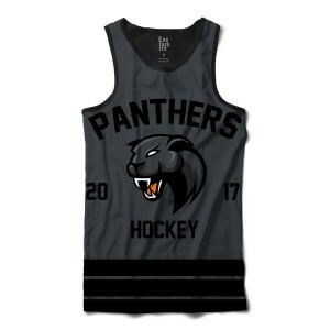 Camiseta Regata Los Fuckers Hockey Panthers Full Print Preto / Cinza
