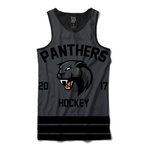 Camiseta Regata BSC Hockey Panthers Sublimada Preto / Cinza