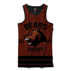 Camiseta Regata Los Fuckers Hockey Bears Full Print Preto / Marrom