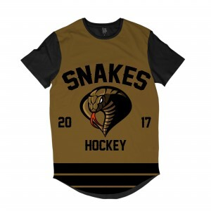 Camiseta Longline Los Fuckers Hockey Snakes Full Print Preto / Marrom