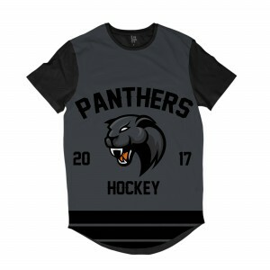 Camiseta Longline Los Fuckers Hockey Panthers Full Print Preto / Cinza