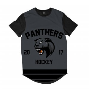 Camiseta Longline BSC Hockey Panthers Sublimada Preto / Cinza