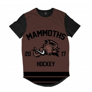 Camiseta Longline BSC Hockey Mammoths Sublimada Preto / Marrom