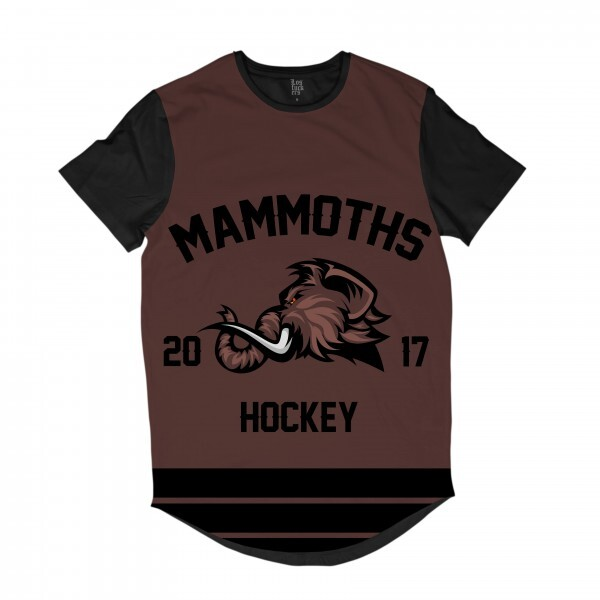 Camiseta Longline Los Fuckers Hockey Mammoths Full Print Preto / Marrom