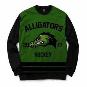 Moletom Gola Careca BSC Hockey Alligators Sublimada Preto / Verde