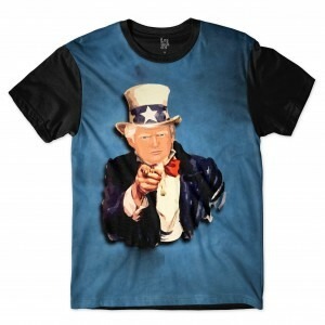 Camiseta BSC Trump Tio Sam  Sublimada Azul