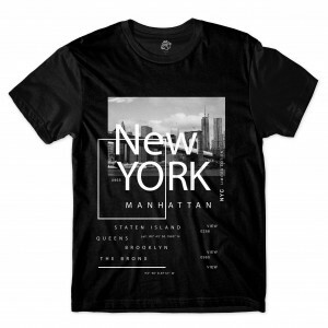 Camiseta BSC Nova Iorque  NYC Brooklyn Sublimada Preto