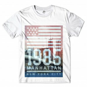 Camiseta BSC Nova Iorque 1985 Manhattan Sublimada Branco