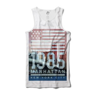 Regata BSC Nova Iorque 1985 Manhattan Sublimada Branco