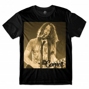 Camiseta BSC Astros do Rock Chris Cornell Sublimada Preto