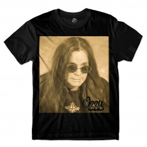 Camiseta BSC Astros do Rock Ozzy Osbourne Sublimada Preto