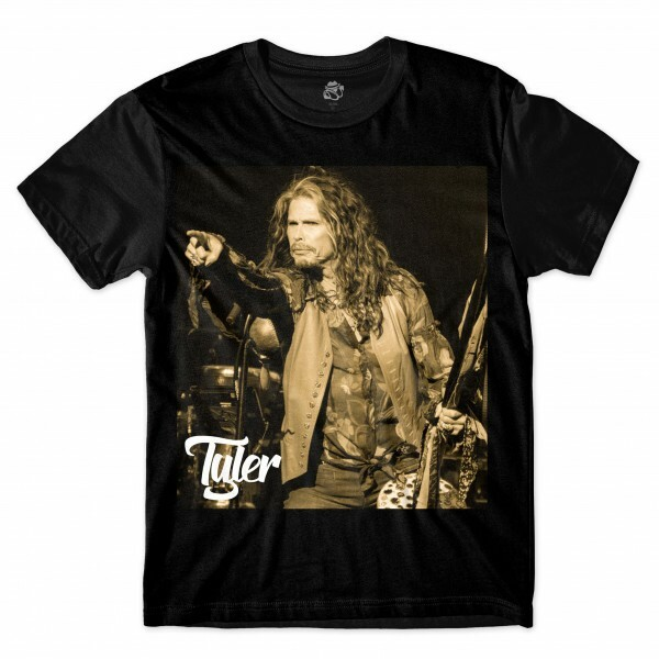 Camiseta BSC Astros do Rock Steven Tyler Sublimada Preto