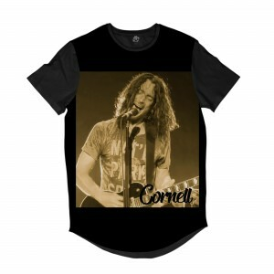 Camiseta Longline BSC Astros do Rock Chris Cornell Sublimada Preto