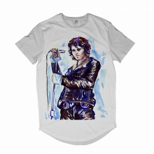 Camiseta Longline BSC Astros do Rock Jim Morrison Full Print Branco