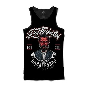 Regata BSC Barbeiro Rockabilly Sublimada Preto