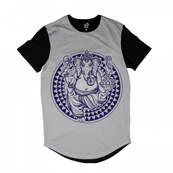 Camiseta Longline Long Beach Ganesh Full Print Branco