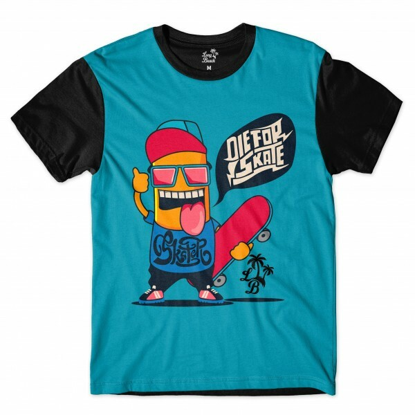 Camiseta Long Beach Die for Skate Full Print Azul