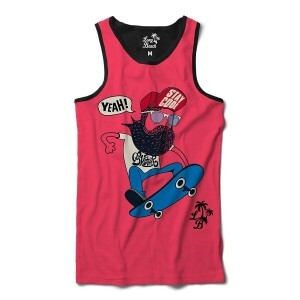Camiseta Regata BSC Barba Nose Grab Sublimada Rosa