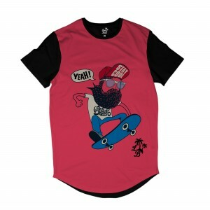 Camiseta Longline BSC Barba Nose Grab Sublimada Rosa
