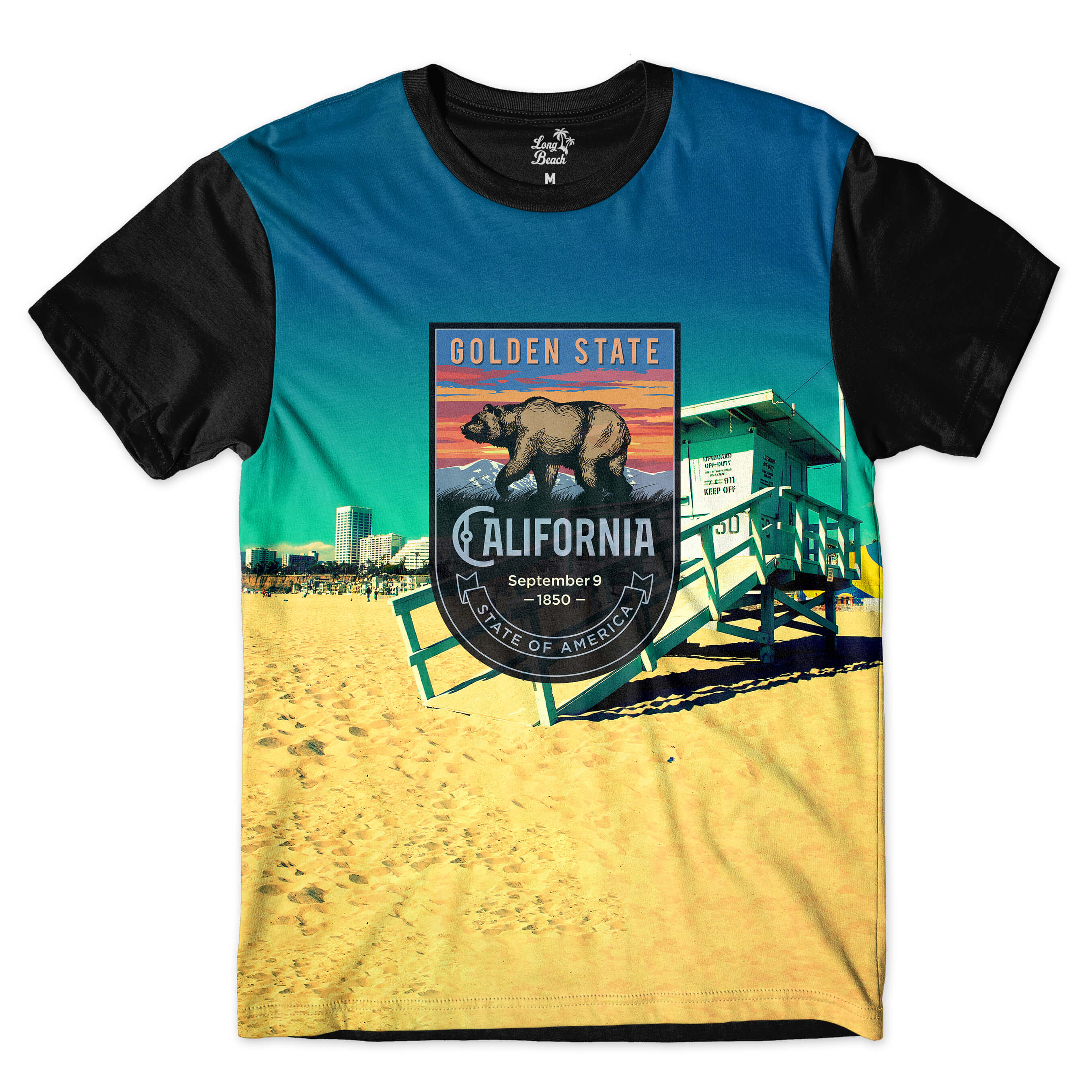 Camiseta BSC California Venice Sublimada Colors