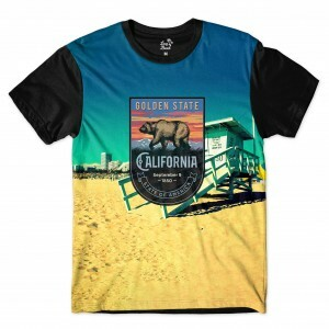 Camiseta Long Beach California Venice Full Print Colors