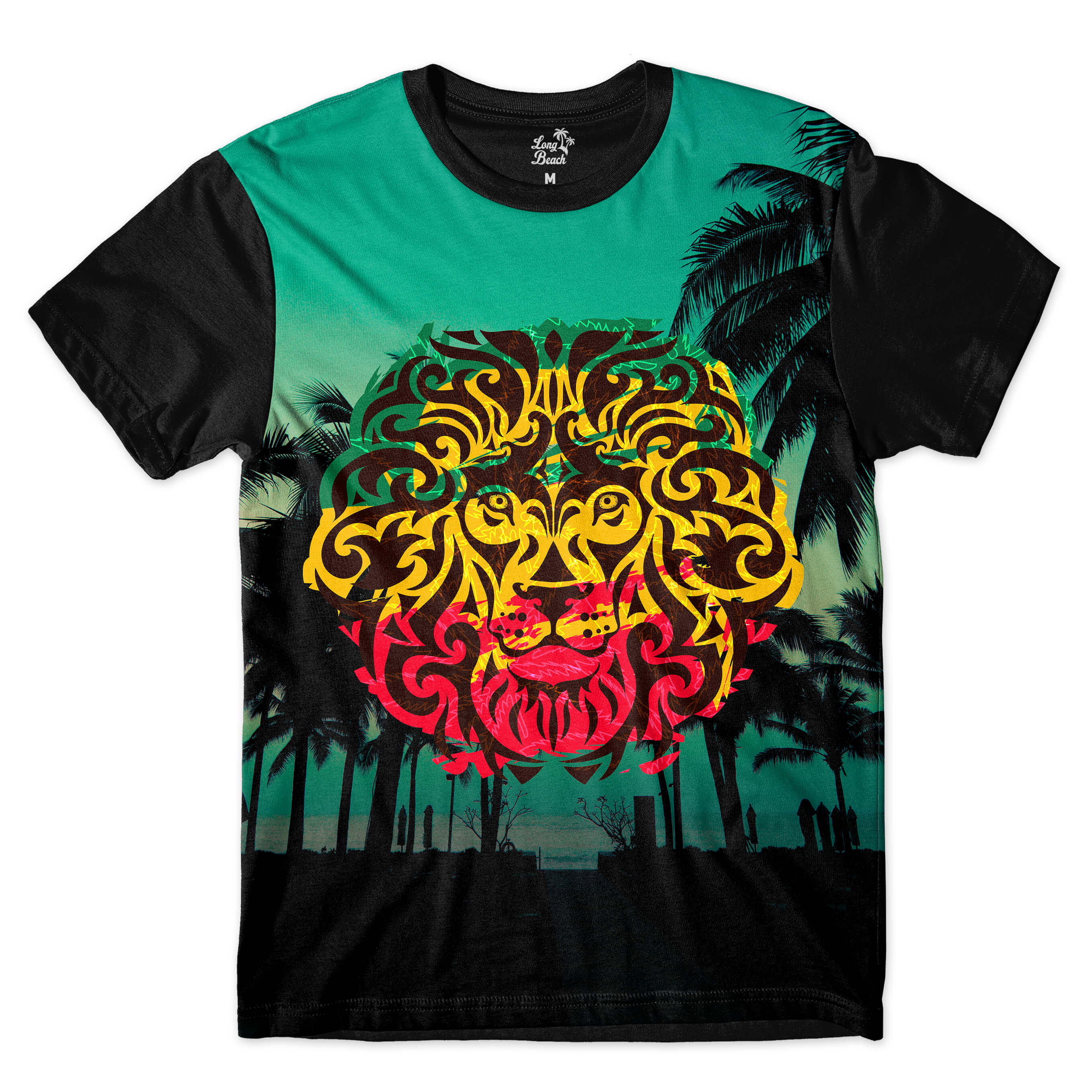 Camiseta Long Beach LB Lion Full Print Colors