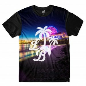 Camiseta Long Beach LB Santa Monica Full Print Colors