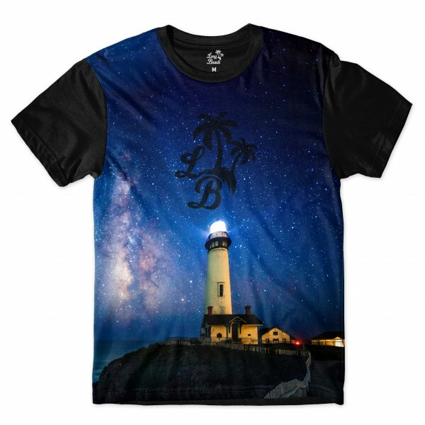 Camiseta Long Beach LB Farol Full Print Azul