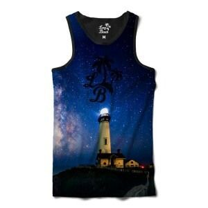 Camiseta Regata Long Beach LB Farol Full Print Azul