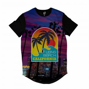Camiseta Longline BSC California Purple Sublimada Roxo Fosco