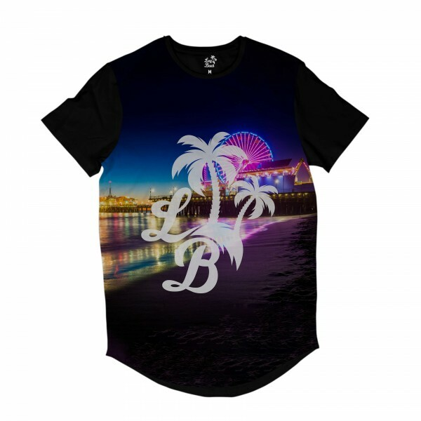 Camiseta Longline BSC LB Santa Monica Sublimada Colors