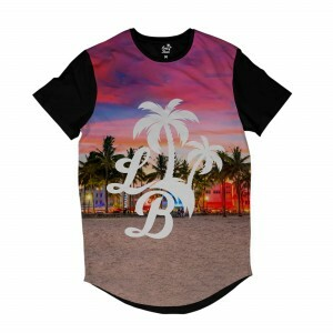 Camiseta Longline BSC LB Praia Sublimada Colors