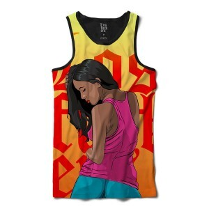 Camiseta Regata BSC LF Golden Sublimada Laranja