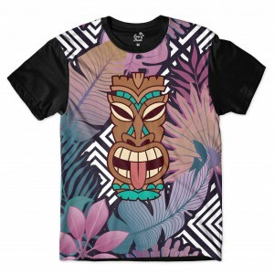 Camiseta Totem Floral Careta Long Beach Full Print Colors