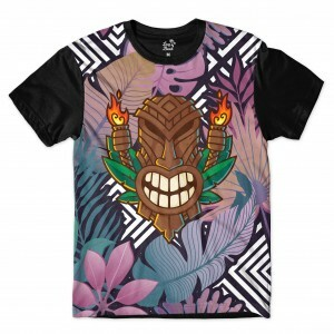 Camiseta Long Beach Totem Floral Sentinela Full Print Colors