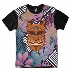 Camiseta Long Beach Totem Floral Curandeiro Full Print Colors