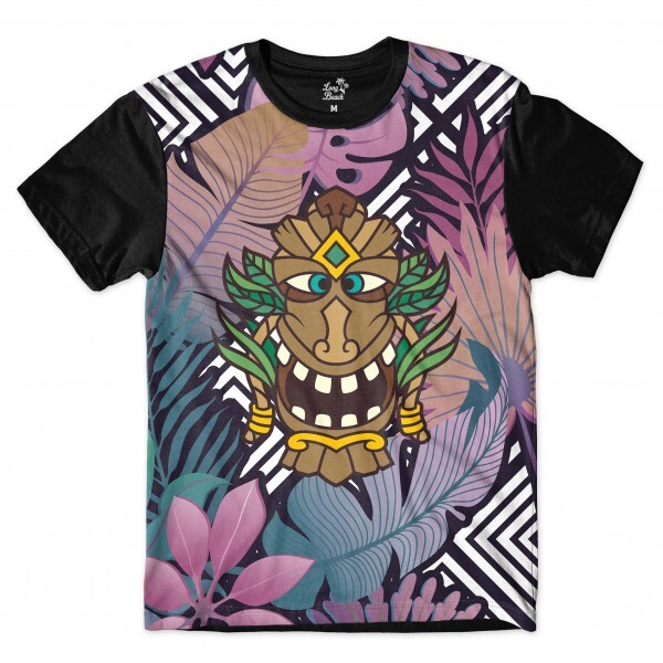 Camiseta Long Beach Totem Floral Alquimista Full Print Colors