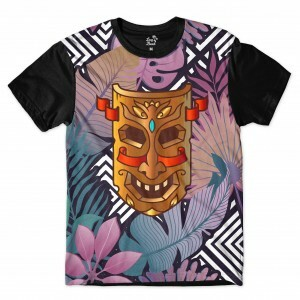 Camiseta Long Beach Totem Floral Beleza Full Print Colors