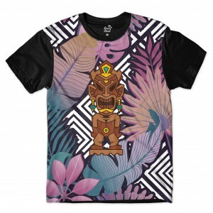 Camiseta Long Beach Totem Floral Groot Full Print Colors
