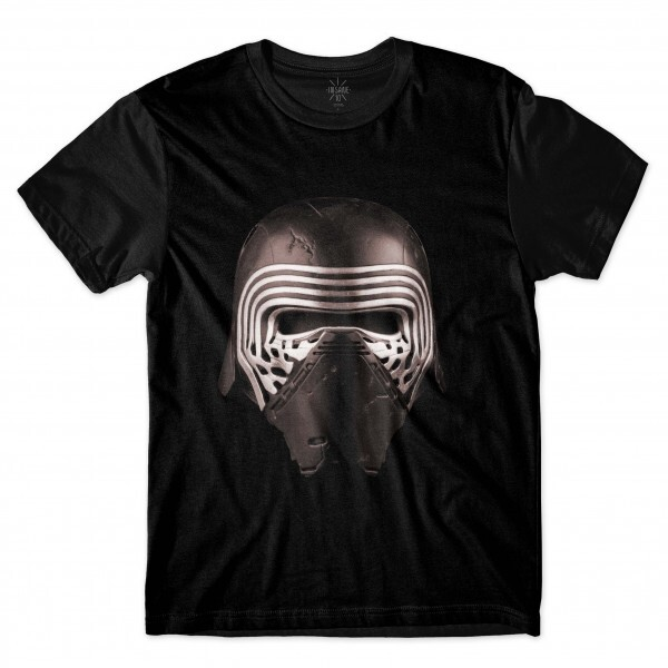 Camiseta Insane 10 Star Wars Máscara Kylo Ren Full Print Preto