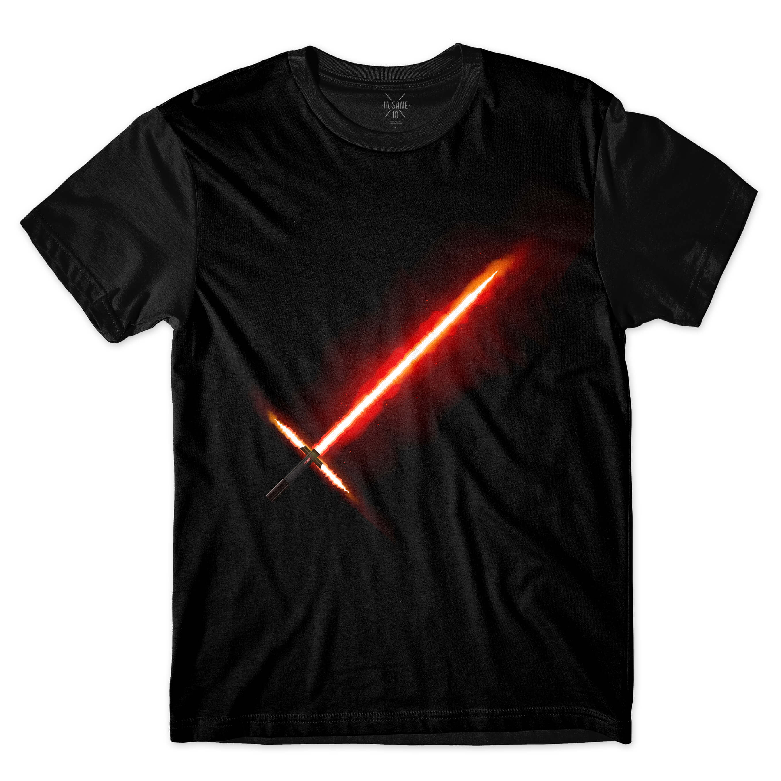 Camiseta Insane 10 Star Wars Sabre Kylo Ren Full Print Preto