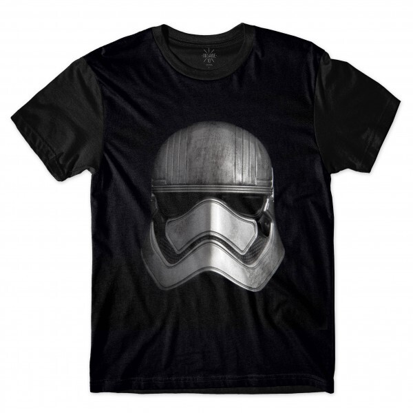 Camiseta Insane 10 Star Wars Máscara Stormtrooper Suja Full Print Preto